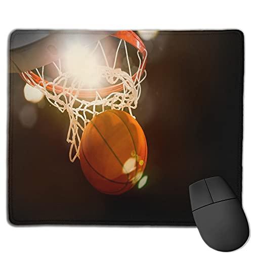 Alfombrilla de ratón de Oficina,Baloncesto atravesando la Canasta en un estad,Base de Goma Antideslizante Alfombrilla de ratón para Juegos Alfombrilla Decoración de Escritorio 9.8'x11.8'