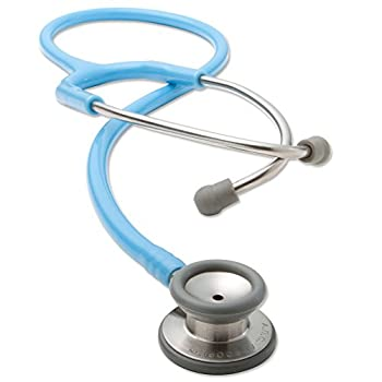 ADC Adscope 604 Premium Pediatric Clinician Stethoscope with Tunable AFD Technology, Light Blue