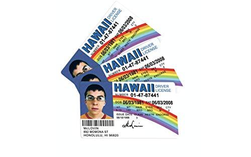 bA1 Gag Gifts - McLovin ID Card 3 Pack - Fake ID License - Funny Gag Gift Prank - 3 ID McLovin ID Cards