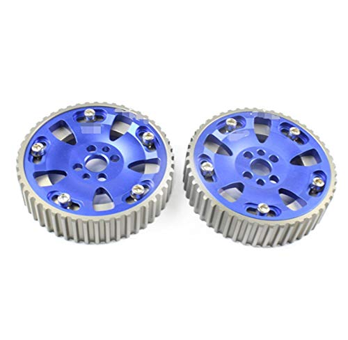 Yxwei. R34 Nockengetriebe Fit für Nissa N RB20DET RB26DET R32 R33 Synchrongetriebe 2Pcs (Color : Blue)