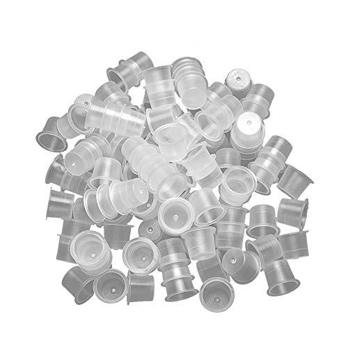 1000 Pièces Jetables Coupes D'Encre Tatouage Propre Et Hygiénique En Plastique Microblading Coupes D'Encre Grande Qualité Tatouage Coupes Pigments Durables Fournitures De Tatouage Outils De Tatouage