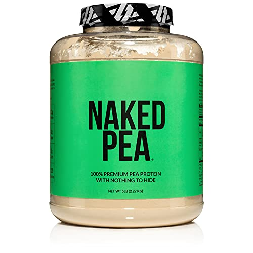 NAKED PEA - 100% Pea Protein Isolate from North American Farms - 5lb Bulk, Plant Based, Vegetarian & Vegan Protein. All 9 Essential Amino - Easy to Digest - Speeds Muscle Recovery - Non-GMO - No Preservatives - Gluten Free, Lactose Free, Soy Free - 76 Servings