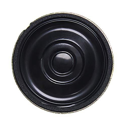 oshhni Bocina de Altavoz Magnético Interno Impermeable Negro 27 Mm 0.5W 8 Ohm
