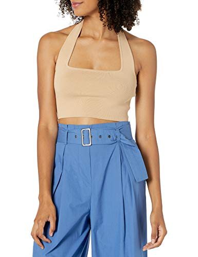 Marque Amazon - Greta Crop Top Cintré pour Femme, Encolure Carrée, Dos Nu par The Drop
