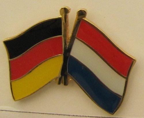 Niederlande / Deutschland Fre&schafts Pin Anstecker Flagge Fahne Nationalflagge Doppelpin Holland Flaggenpin Badge Button Flaggen Clip Anstecknadel