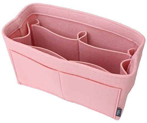 Pelikus Felt Purse & Tote Organizer Insert/Multi-Pocket Handbag Shaper (Medium–Slender, Blush Pink)
