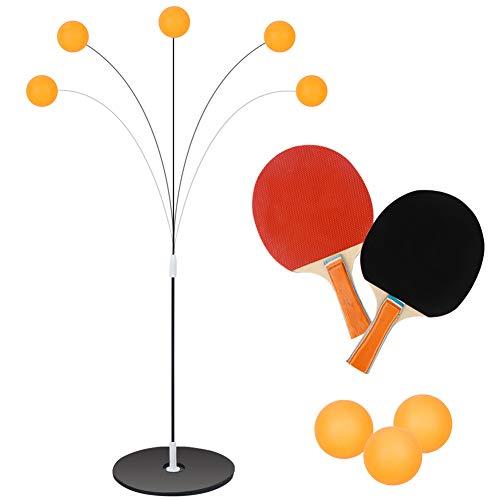 Dreamon Tischtennis Trainer Set Outdoor Indoor Zuhause Spiele für Kinder Erwachsene Sport, 2 Tischtennis Paddel & 3 Ping Pong Ball