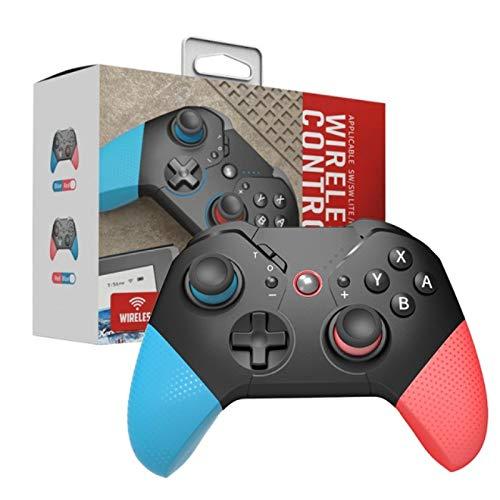 Aubess Controlador inalámbrico compatible con Switch/Lite Console, Gamepad Joystick Soporte Batería Recargable, Gyro Axis, Dual Vibration, Turbo, Función de Captura, Control de Movimiento