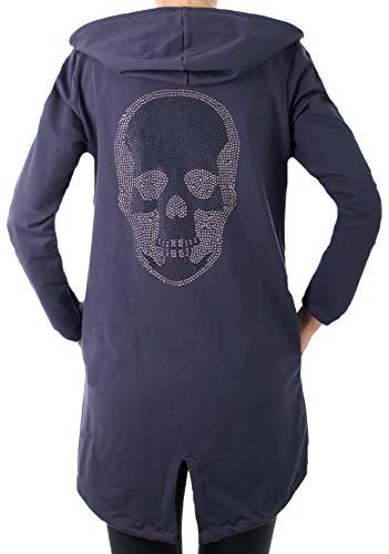 Fashion You Want Damen Cardigan Größe 34-48verfügbar Sterne Star Strick Strickjacke Bolero Mantel Jacke Übergröße (38/40, Peace dunkelgrau)