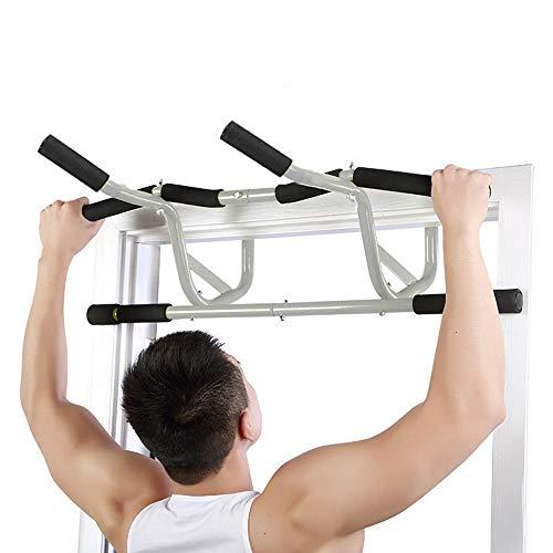 Barre Traction Barre de traction multifonctionnelle pour porte, barre de traction avec entraîneur souple pour le haut du corps, sans vis, pour utilisation à la porte ou au sol - pour la musculation et