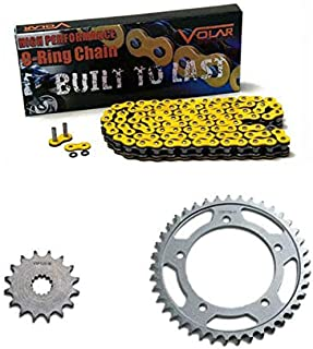 Volar O-Ring Chain and Sprocket Kit - Yellow for 1999-2009 Suzuki SV650S