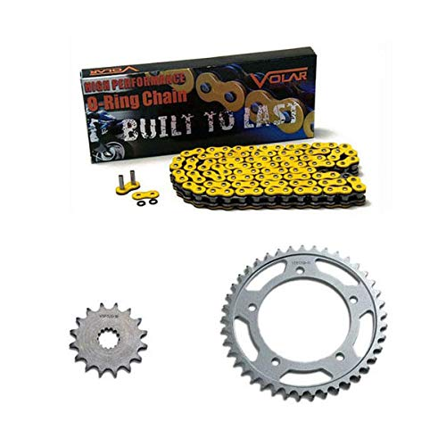 Volar O-Ring Chain and Sprocket Kit - Yellow for 2003-2005 Yamaha YZF R6