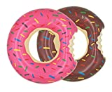 Topfun 2 Pack Kids Donut Pool Floats Inflatable Swimming Rings Tubes for Ba