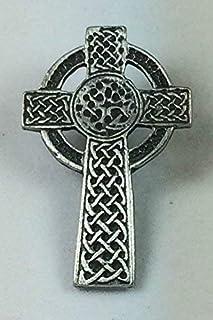 Croce Celtica Finemente Realizzato artigianalmente In Peltro Solido nel Regno Unito Distintivo Di Lapel Pin