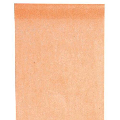 Tischläufer Aprikot, 10m lang, 30cm breit, Vlies, Tischdekoration, kombinierbar
