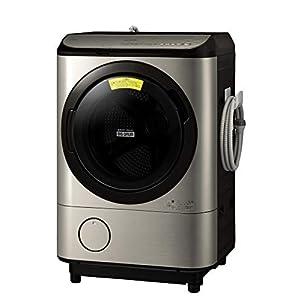 """日立 ドラム式洗濯乾燥機 洗濯12kg/乾燥6kg ステンレスシャンパン ビッグドラム BD-NX120EL N 左開き 洗剤..."""""""