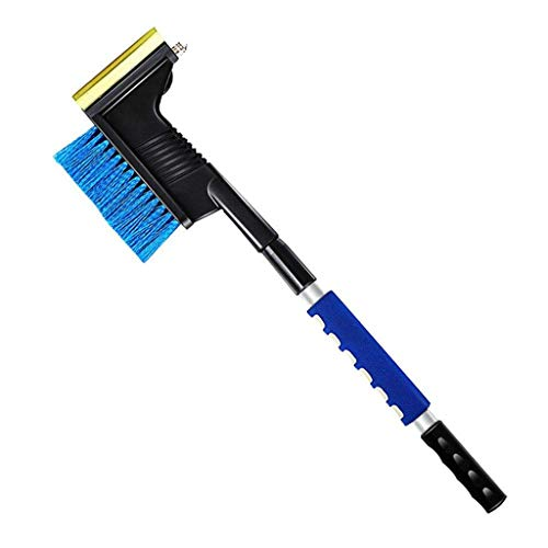 Lowest Prices! LXHSY Snowboard Shovel 30 Extendable Snow Brush & Ice Scraper,Foam Grip and Soft Bri...