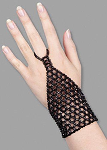 Struts Fancy Dress Déesse Grecque Noir perlé de Gant de Doigt
