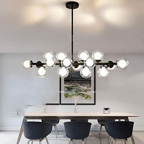 25 luces que iluminan la lámpara de techo moderna, la luz colgante de la sombra de las burbujas de cristal G9, el accesorio de iluminación colgante llevada DNA, la lámpara de techo de la cafetería del
