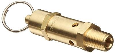 """Kingston 112CSS Series Brass ASME-Code Safety Valve, 100 psi Set Pressure, 1/2"""" NPT Male from Kingston Valves"""
