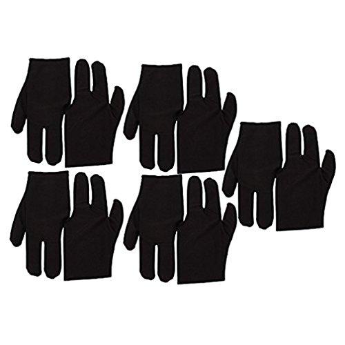 TaoNaisi Guantes de terciopelo con 3 dedos para taco de billar (10 unidades)