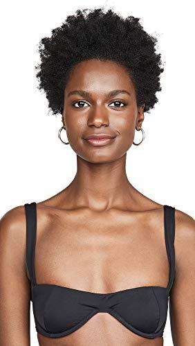 Onia Women's x WeWoreWhat Sorrento Bikini Top, Black, Large