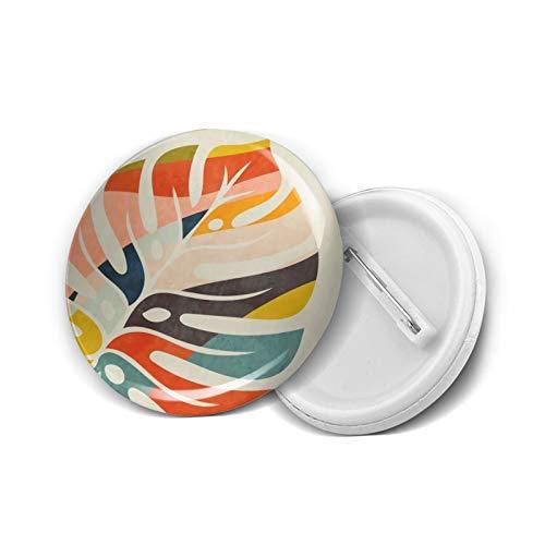 Insignia redonda DIY Botones Forma Deja Moderno Mediados de Siglo Moda Titular Mini Broches Pin Insignias Prendas de Botones de Ropa Pines 4.5 cm