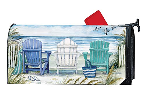 MailWraps Studio M Ocean View Decorative, The Original Magnetic Mailbox Cover, Made in USA, Superior Weather Durability, Standard Size fits 6.5W x 19L Inch Mailbox