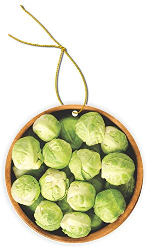 Sam Sandor - Brussel Sprouts - Round Masonite Flat Ornament with String