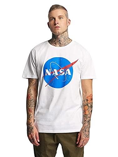 Mister Tee NASA Logo T-Shirt für Herren, Weiß, Größe 3XL