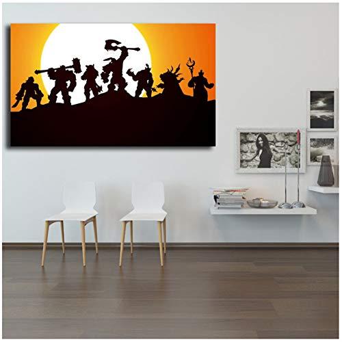 sjkkad World of Warcrafts Warlords of Draenor Kunst Leinwand Poster Malerei Wandbild Drucken Moderne Home Schlafzimmer Dekoration Zubehör-50x80 cm Kein Rahmen