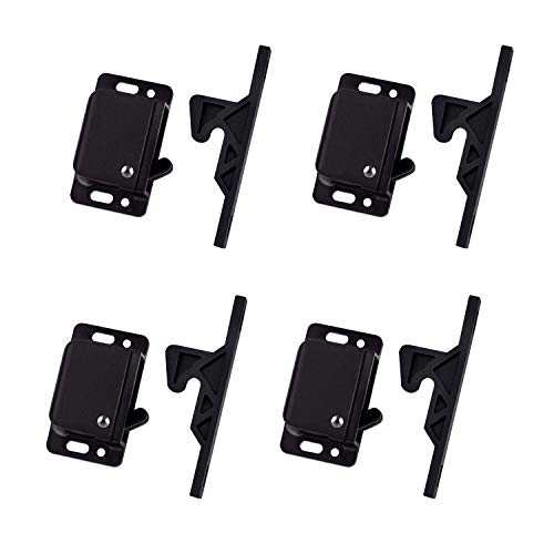 4 Pack Cabinet Door Latch/RV Drawer Latches, 8 Pull Force Latch, Holder for Home/RV Cabinet with Mounting Screws, Perfect for RV, Camper, Motorhome, Trailor, OEM Replacement