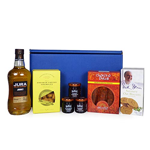 Jura Whisky Ultimate Gents Delights Hamper - Includes 350ml Jura Journey Single Malt Scotch Whisky & Treats - Ideas for Christmas, Mother's Day, Birthday, Anniversary, Business and Corporate