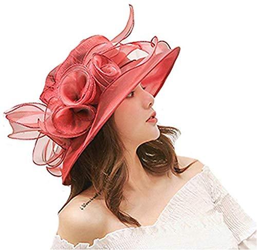 yiguanguan Damenhut, elegant, lässig, Sonnenhut, Hochzeit, Party, Sommer, Blume, Frisur, Haarband,...