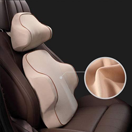 Kuailaidan auto hoofdsteun met zitkussen voor auto in de levering, nekkussen, memory-katoen, nekkussen Reposacabezas + cintura 4 X 100 M