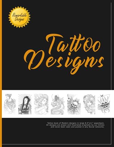 Tattoo Designs: Big Tattoo Design Book in Grayscale Sketches