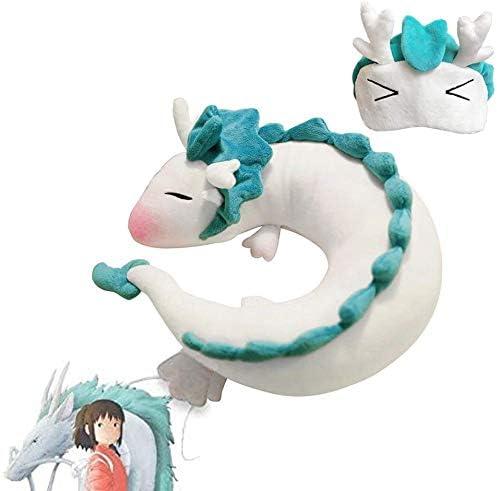 Cute White Dragon Neck Pillow U Shaped Travel Pillow Doll Plush Toy Haku Dragon Neck Pillow product image