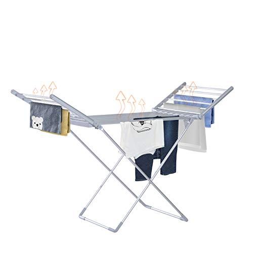 HOMCOM Beheizbarer Flügelwäscheständer Wäschetrockner Wäscheständer Wäschegestell Trockengestell Faltbar