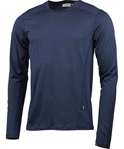 Lundhags Gimmer Merino LT T-Shirt à Manches Longues pour Homme, 10000372213, Bleu foncé, s