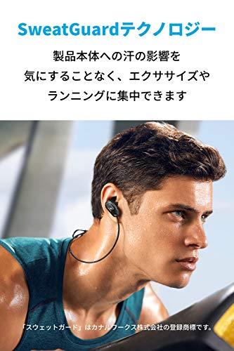 AnkerSoundcoreSportAir(ワイヤレスイヤホンカナル型スポーツ用)【SweatGuardテクノロジー/Bluetooth5.0対応/IPX7防水規格/10時間連続再生/マイク内蔵】