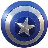 Capitán América Shield Metal 60Cm 75 Aniversario Versión de Película 1: 1 Aniversario Vengadores Marvel Capitán Apoyos de Película Réplica de Marvel Prop Accesorios de Disfraces de Cosplay