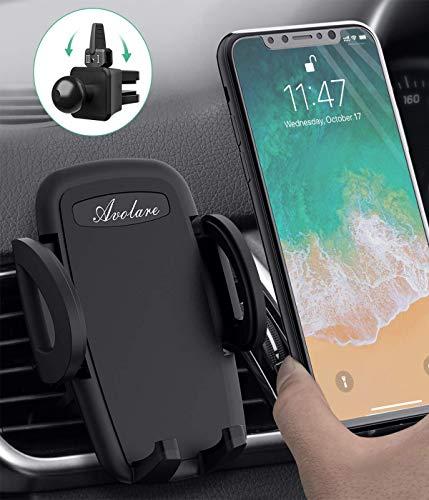 Avolare Handyhalterung Auto Handyhalter fürs Auto Lüftung Universal Handy KFZ Halterungen für iPhone Samsung Huawei Sony LG und mehere Smartphone oder GPS-Gerät(Schwarz)