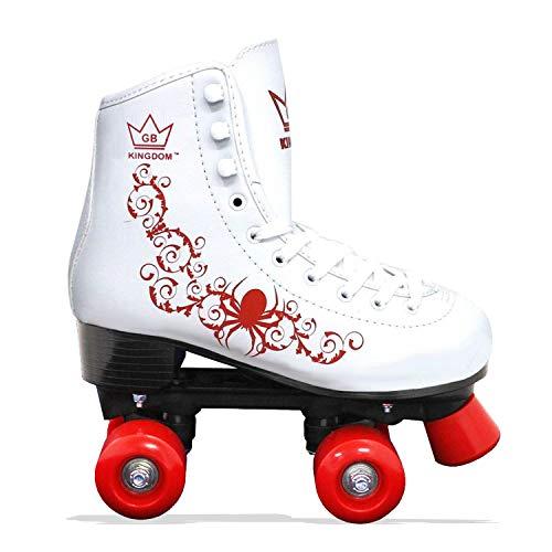 Kingdom GB Vector v2 4-Rollen Skaten Rollschuhe (Weiß/Rot, 38 EU)