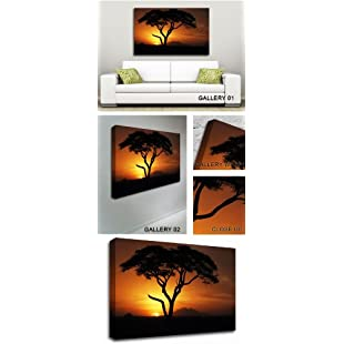 Customer reviews GFM Painting Handmade Oil Painting Reproductions of African Tree in Golden Sunlight Abstract Art,Oil Painting by Modern Art Abstract Art Contemporary Art - 72 By 96 inches:Peliculas-gratis