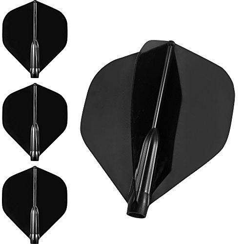 Cosmo Fit Flight Air – Set mit 3 Dart-Flights – nur mit Fit-Schaft verwendbar – Standard (dunkelschwarz)