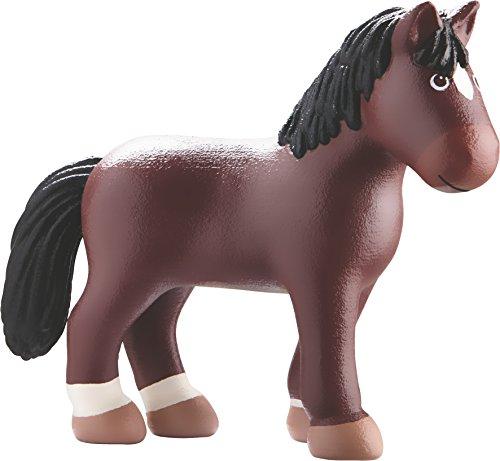 HABA Little Friends Horse Kasper - 4.5  Chunky Plastic Toy Farm Animal Figure