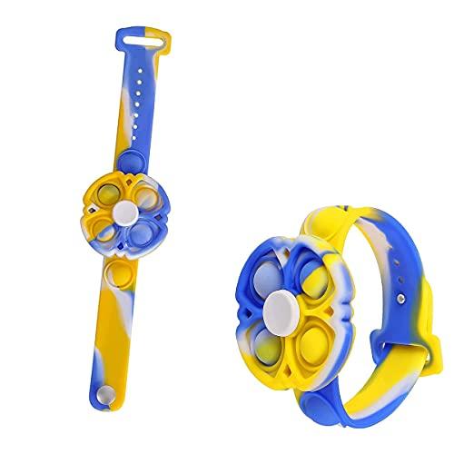 Sweetone Push Pop Bubble Sensory Fidget Bracelet Toy, Juguete sensorial Pop-it, Bracelet Push Pop Fidget Toy,Autismo Necesidades Especiales Aliviador del Antiestrés del Juguetes