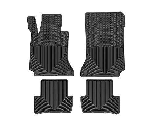 WeatherTech All-Weather Floor Mats for C-Class - 1st & 2nd Row - MB W204 B (Black)