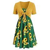 SamMoSon Donna Vestito Casuale dal Partito di Bodycon di Modo delle Donne di Modo Trasversale delle Scollo a V Senza Maniche della Cinghia Vestito Elegante Vestiti Cerimonia (Menta Verde, M)