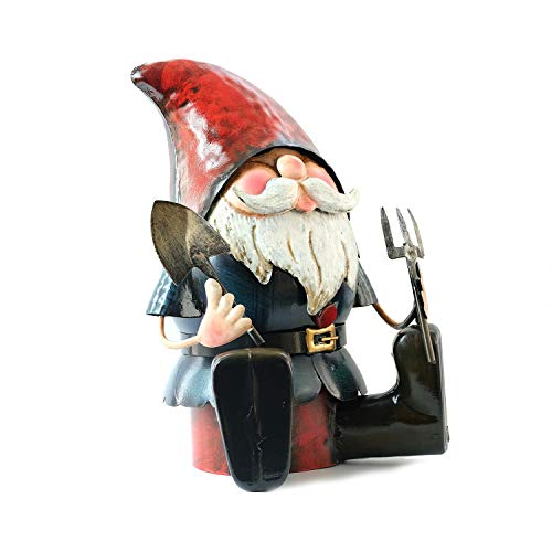 XFORT Gartenzwerge, metall, No.PQ5010 Metal Gnome Ready to Dig